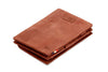 Garzini RFID Leather Magic Coin Wallet Card Sleeve Vintage - Brown - 1