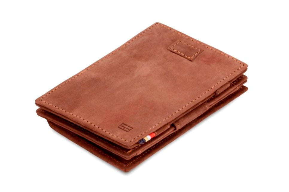 Garzini RFID Leather Magic Coin Wallet Card Sleeve Vintage-Brown