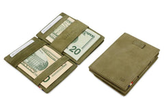 Garzini RFID Leather Magic Coin Wallet Card Sleeve Vintage - Green - 5