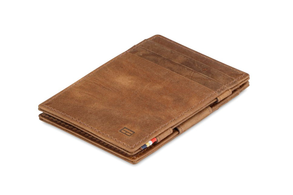 Garzini RFID Leather Magic Wallet Brushed-Brown