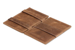 Garzini RFID Leather Magic Wallet Brushed - Brown - 3