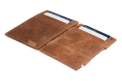 Garzini RFID Leather Magic Wallet Brushed - Brown - 4