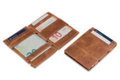 Garzini RFID Leather Magic Wallet Brushed - Brown - 5
