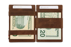 Garzini RFID Leather Magic Wallet Brushed - Brown - 8
