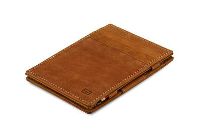 Garzini RFID Leather Magic Wallet - Cognac