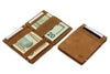 Garzini RFID Leather Magic Wallet Vintage-Cognac