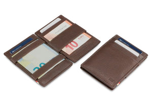Garzini RFID Leather Magic Wallet Nappa-Brown