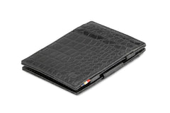 Garzini RFID Leather Magic Wallet Croco - Black - 1
