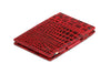 Garzini RFID Leather Magic Wallet Croco-Red