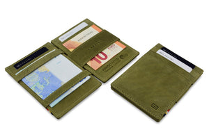 Garzini RFID Leather Magic Wallet Vintage-Green