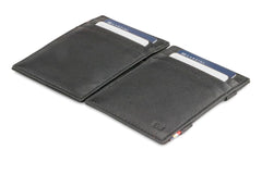 Garzini RFID Leather Magic Wallet Nappa - Black - 4