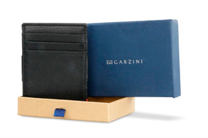 Garzini RFID Leather Magic Wallet Nappa-Black