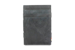Garzini RFID Leather Magic Wallet ID Window Brushed - Black - 2
