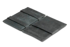 Garzini RFID Leather Magic Wallet ID Window Brushed - Black - 3
