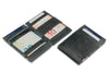 Garzini RFID Leather Magic Wallet ID Window Brushed-Black