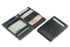Garzini RFID Leather Magic Wallet ID Window Brushed - Black - 5