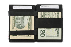 Garzini RFID Leather Magic Wallet ID Window Brushed - Black - 8