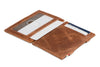Garzini RFID Leather Magic Wallet ID Window Brushed-Brown