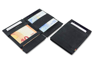 Garzini RFID Leather Magic Wallet ID Window Vintage-Black