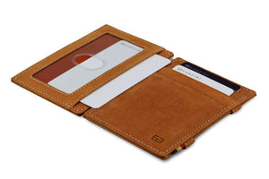 Garzini RFID Leather Magic Wallet ID Window Vintage-Cognac