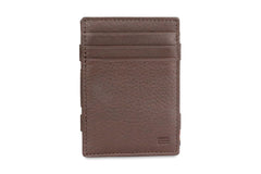 Garzini RFID Leather Magic Wallet ID Window Nappa - Brown - 2