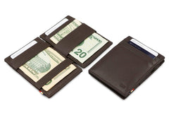 Garzini RFID Leather Magic Wallet ID Window Nappa - Brown - 6