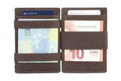 Garzini RFID Leather Magic Wallet ID Window Nappa - Brown - 7