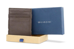 Garzini RFID Leather Magic Wallet ID Window Nappa - Brown - 9