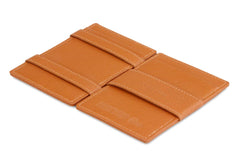 Garzini RFID Leather Magic Wallet ID Window Nappa - Cognac - 3