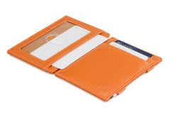 Garzini RFID Leather Magic Wallet ID Window Nappa - Cognac - 4