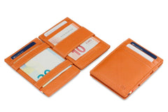 Garzini RFID Leather Magic Wallet ID Window Nappa - Cognac - 5