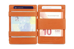Garzini RFID Leather Magic Wallet ID Window Nappa - Cognac - 6