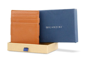 Garzini RFID Leather Magic Wallet ID Window Nappa-Cognac