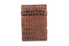 Garzini RFID Leather Magic Wallet ID Window Croco-Brown