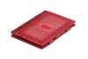 Garzini RFID Leather Magic Wallet ID Window Croco - Red - 1