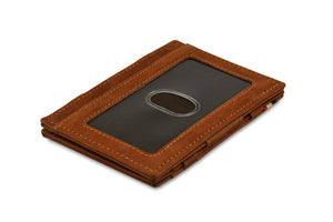 Garzini RFID Leather Magic Wallet ID Window Vintage-Brown