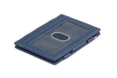 Garzini RFID Leather Magic Wallet ID Window Nappa - Blue - 1
