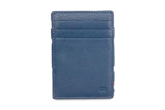 Garzini RFID Leather Magic Wallet ID Window Nappa - Blue - 2