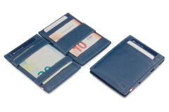 Garzini RFID Leather Magic Wallet ID Window Nappa - Blue - 5