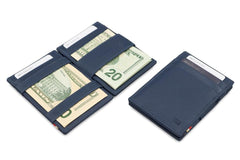 Garzini RFID Leather Magic Wallet ID Window Nappa - Blue - 6
