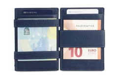 Garzini RFID Leather Magic Wallet ID Window Nappa - Blue - 7