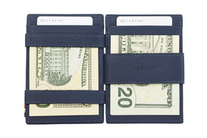 Garzini RFID Leather Magic Wallet ID Window Nappa-Blue