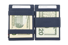 Garzini RFID Leather Magic Wallet ID Window Nappa - Blue - 8