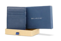 Garzini RFID Leather Magic Wallet ID Window Nappa - Blue - 9