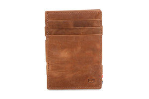 Garzini RFID Leather Magic Wallet Plus Brushed-Brown