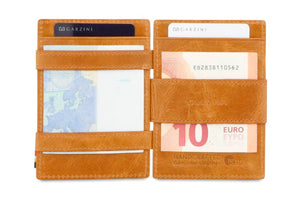 Garzini RFID Leather Magic Wallet Plus Brushed-Cognac