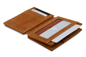 Garzini RFID Leather Magic Wallet Plus Vintage-Cognac