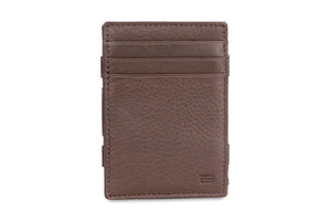 Garzini RFID Leather Magic Wallet Plus Nappa-Brown
