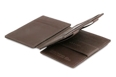Garzini RFID Leather Magic Wallet Plus Nappa - Brown - 3