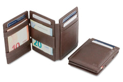 Garzini RFID Leather Magic Wallet Plus Nappa - Brown - 5